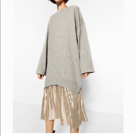 Zara Dresses & Skirts - Zara combo sweatshirt dress